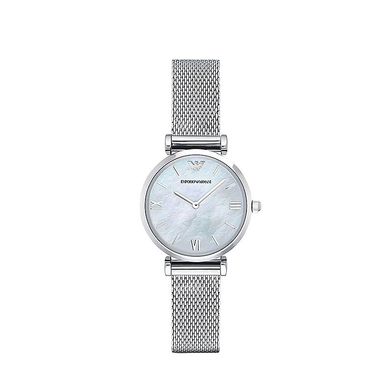 阿玛尼手表 优雅简约圆盘薄款经典潮流时尚女士腕表 AR1955