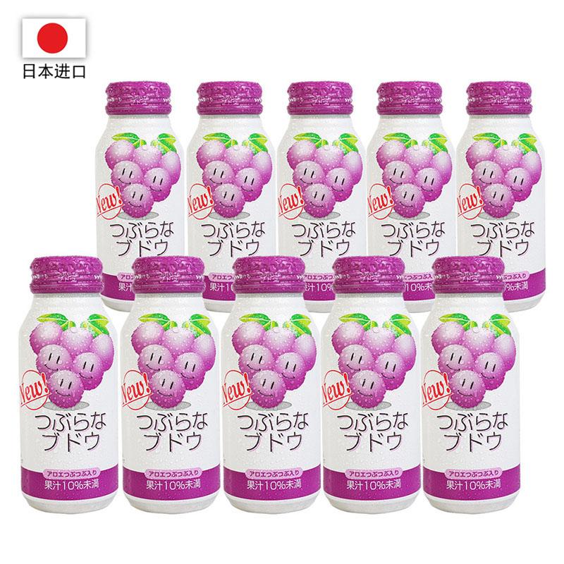 日本进口 JA每粒葡萄水果饮料190g*30瓶装(一箱)