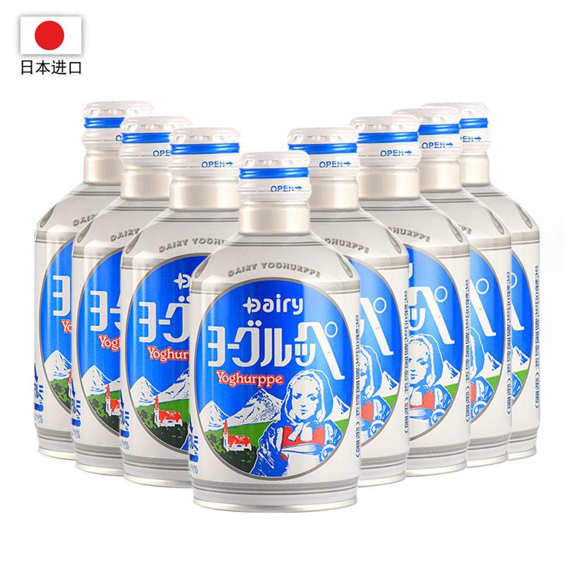 日本进口 怡乐贝乳酸菌饮料290ml*24瓶装(一箱)  买二赠一,2箱赠送1箱