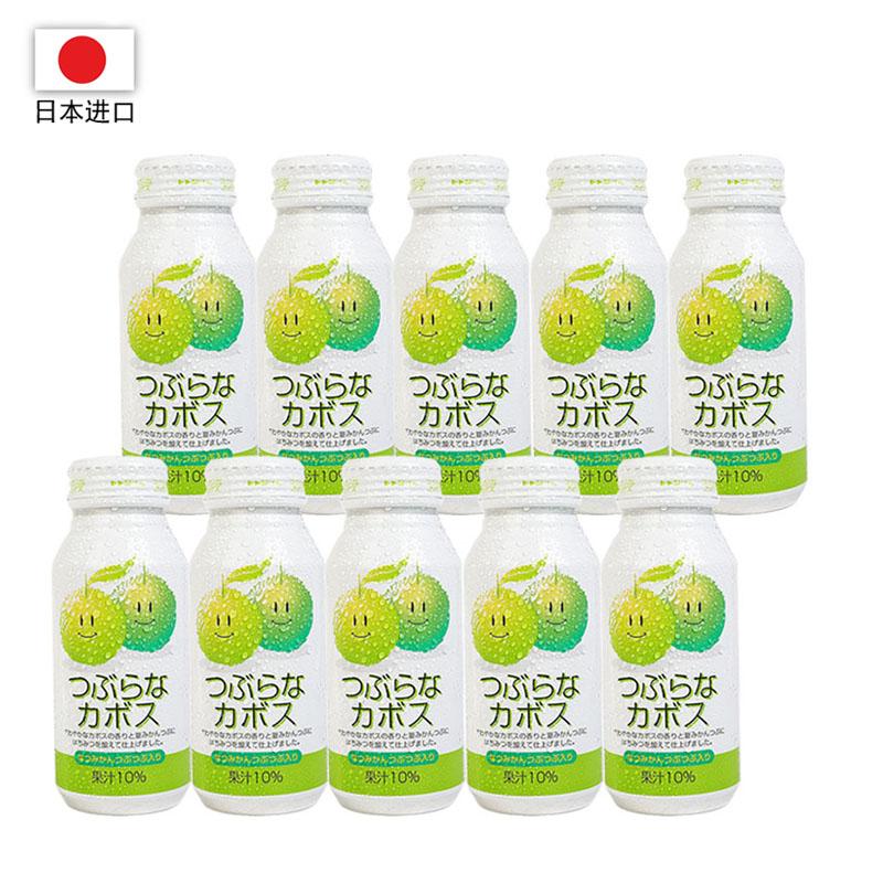 日本进口 JA每粒青桔果汁饮料190g*30瓶装(一箱)