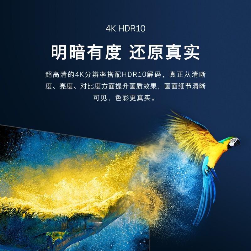 创维(SKYWORTH)4K高清HDR 智慧全面屏防蓝光液晶网络电视机G50升级款 55G51
