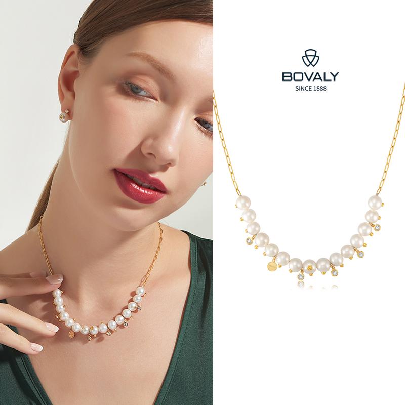 瑞士BOVALY珍珠项链LOGO系列