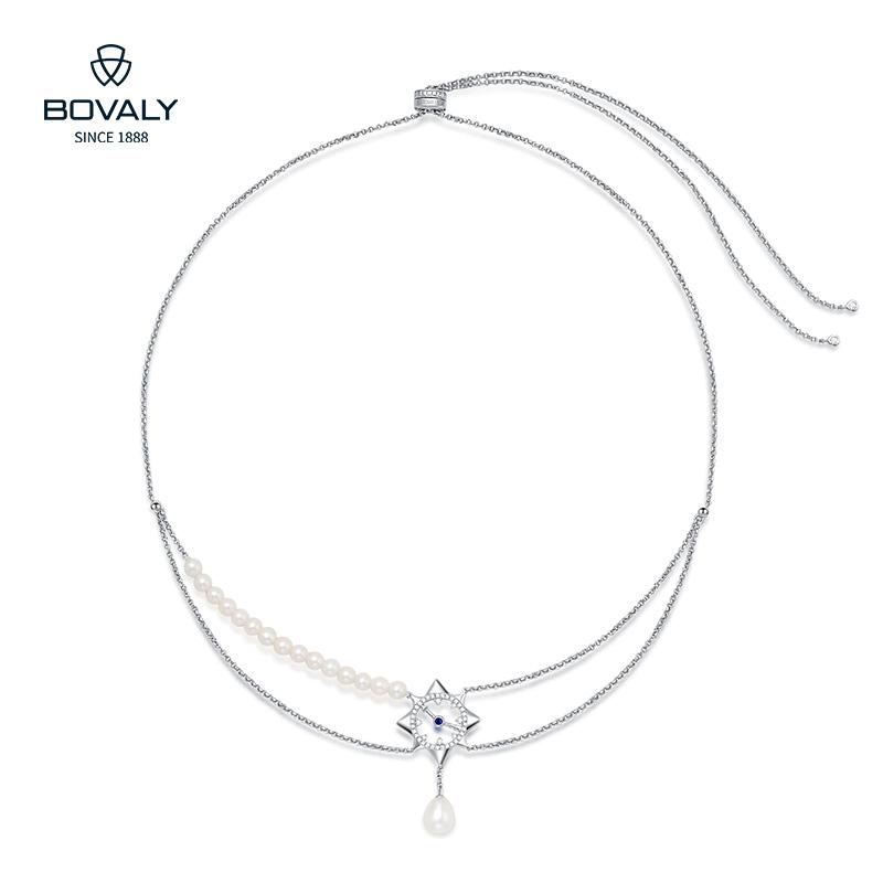 瑞士BOVALY珍珠项链双链条时针分针系列