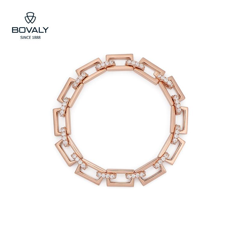 瑞士BOVALY经典链条手链玫瑰金色链条系列