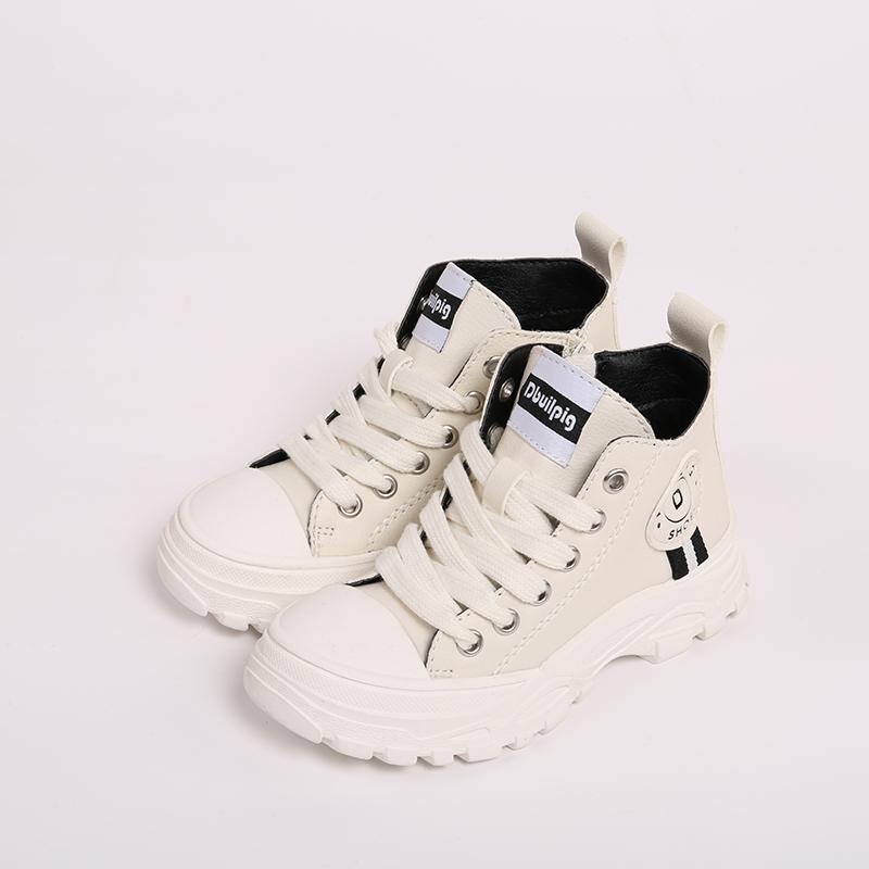 马丁靴季款韩版儿童鞋潮流英伦风靴子短靴单亲子鞋