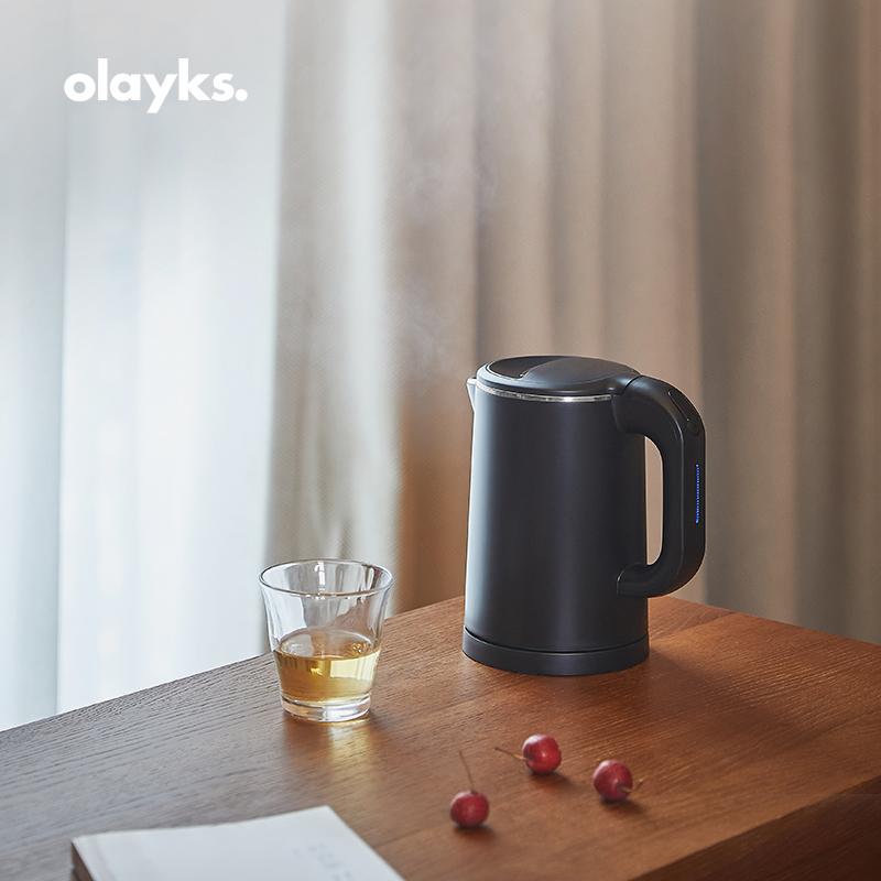 olayks 电热水壶家用便携式小型旅行宿舍迷你0.8L酒店烧水壶