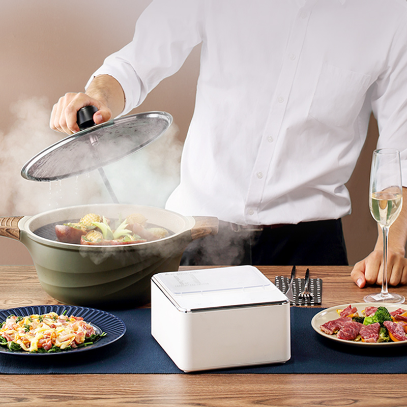olayks 电蒸锅家用大容量迷你小型蒸汽锅自动电蒸笼商用
