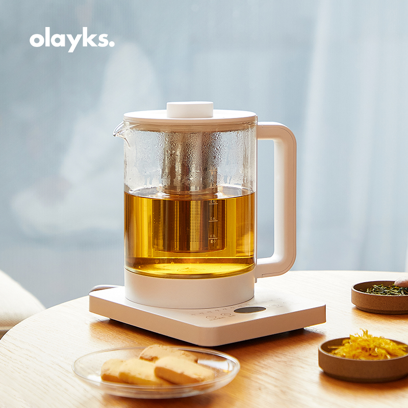 olayks 1.5L养生壶家用多功能小型全自动办公室煮茶壶玻璃茶器