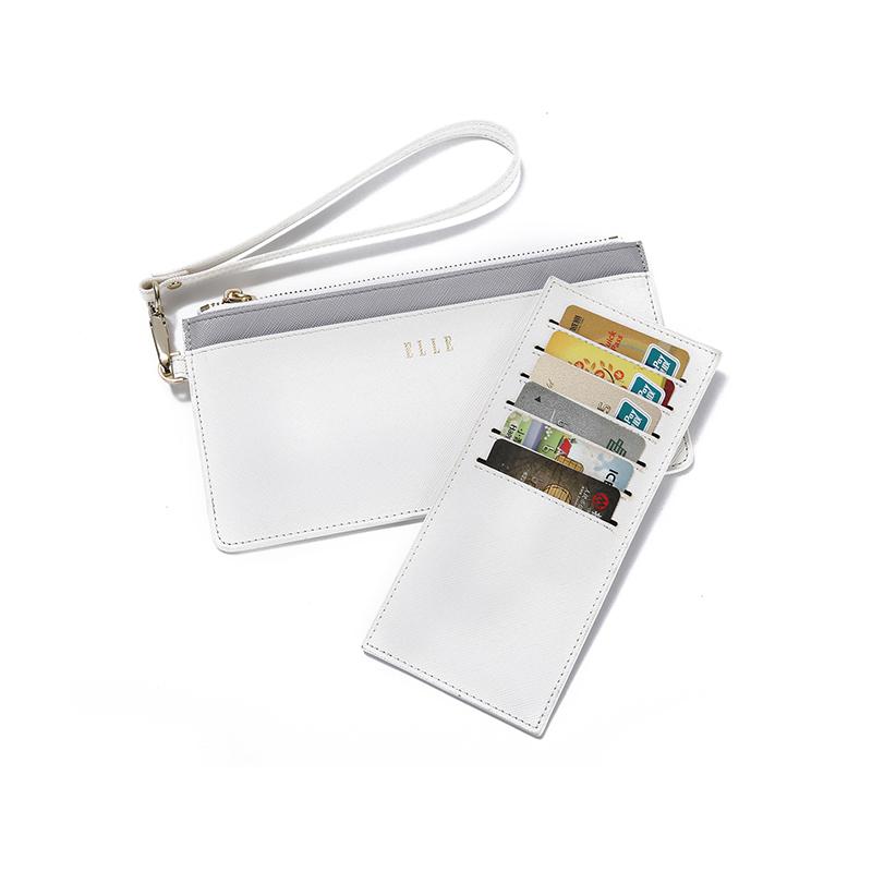 ELLE(她)长款便携卡包/手拿包90010 白色
