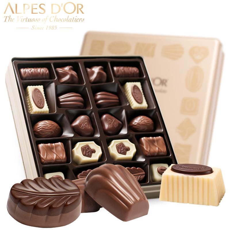 巧可美(比利时)爱普诗 比利时精选什锦巧克力216克金色
